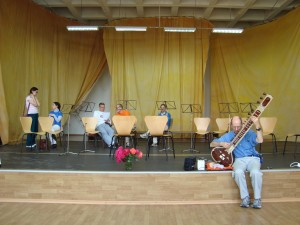 Adesh in pre-rehearsal